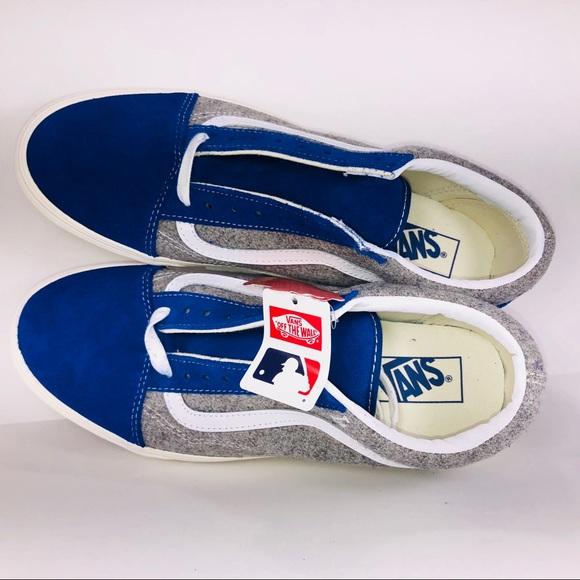 1eeb8bb0b8 Vans Old Skool MLB LA Dodgers Wool Blue Sneakers